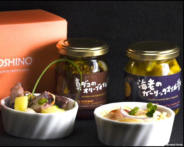 真ダコ・海老のオイル漬け 2本セット 1600円(税別) 愛知県 Cie HOSHINO